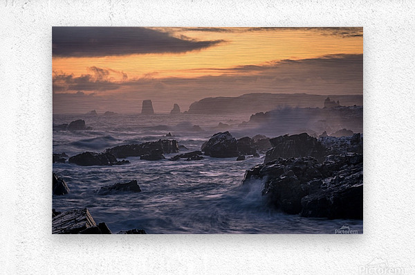 Unforgiving Seas  Metal print