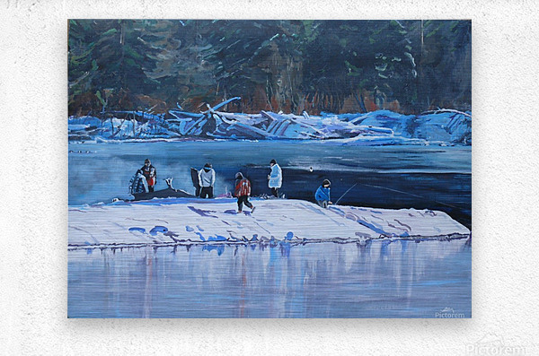 Fire Ice and Friendship  Metal print