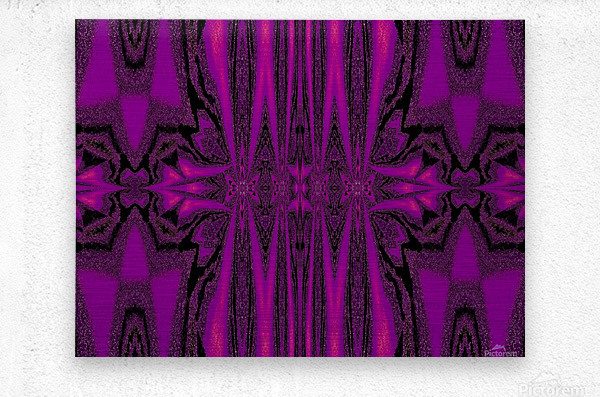 Purple Desert Song 1  Metal print