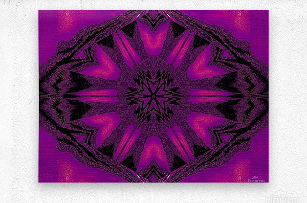 Purple Desert Song 22  Metal print