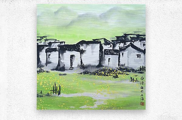 Zhongguo Cun - Chinese Village  Metal print