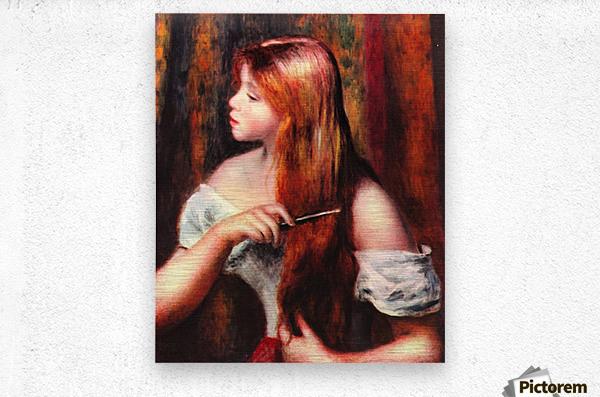 Combing girl  Metal print