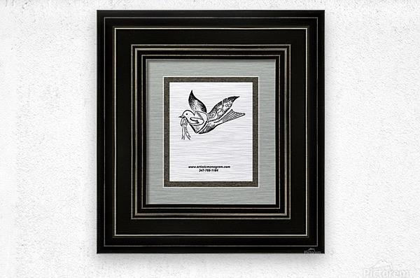 art dove frame  Metal print