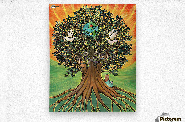 Rooted In The Tree Of Humanity  Metal print