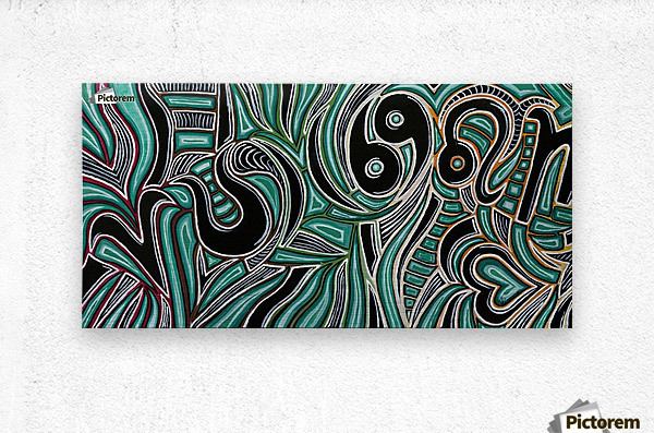Synergy Triptych Right panel  Metal print