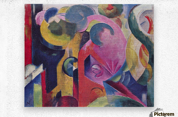 Composition III by Franz Marc  Metal print