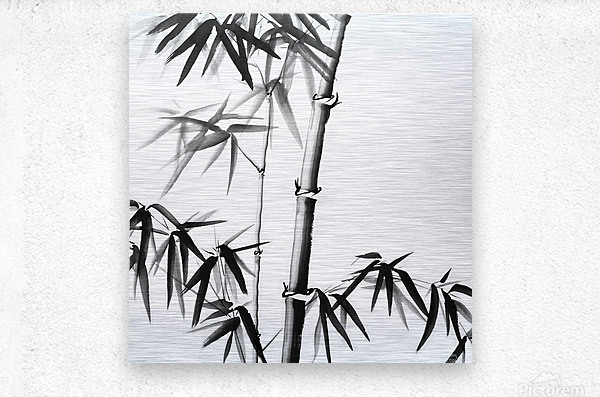 Bamboo - Chinese Style  Metal print