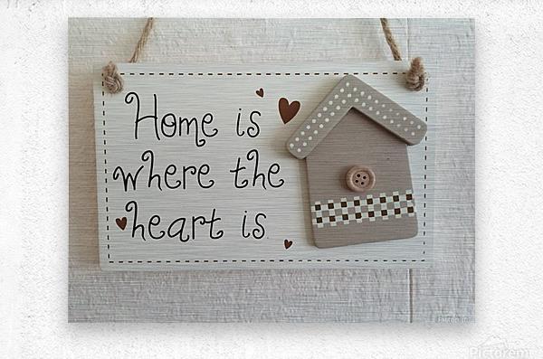 Sweet Home  Metal print