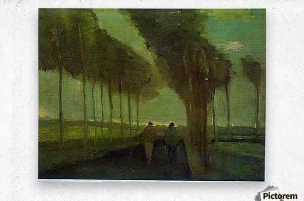 Country Lane by Van Gogh  Metal print