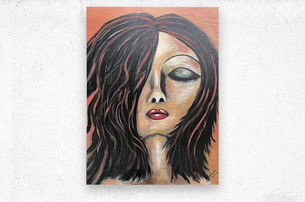 La Femme Zen  Metal print