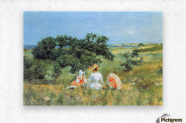 The Tale by William Merritt Chase  Metal print