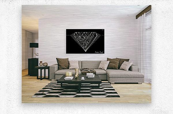 monogram diamond aaa  FOR DISPLAY ONLY  room1  Metal print