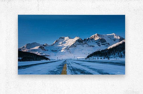 Columbia Ice Fields Canada.  Metal print