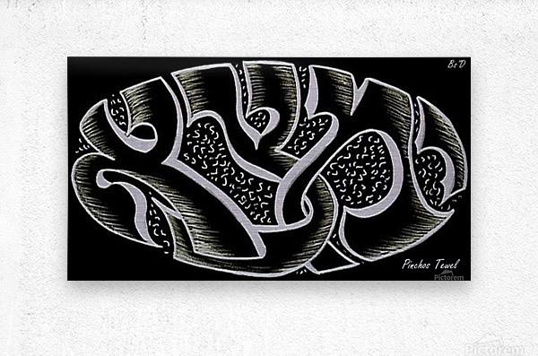 monogram ART   YIMTZA AA  Metal print
