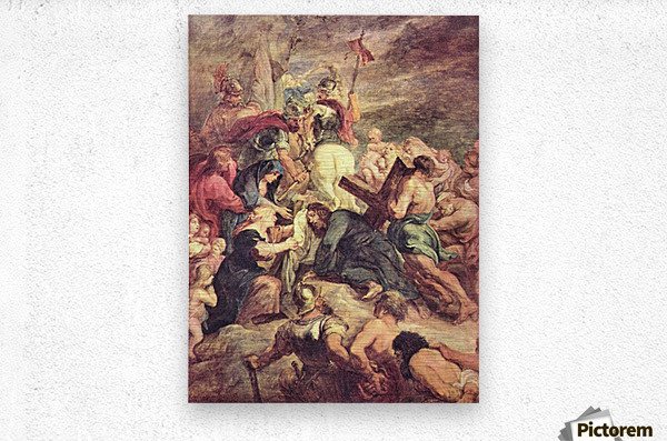 Crucifixion of Christ by Rubens  Metal print