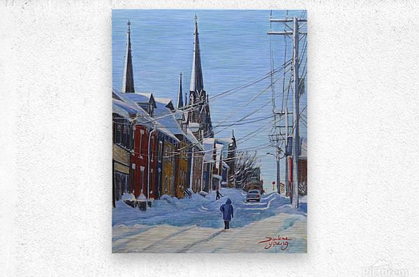 Charlottetown Winter Scene  Metal print