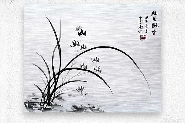 Chinese Iris  Metal print