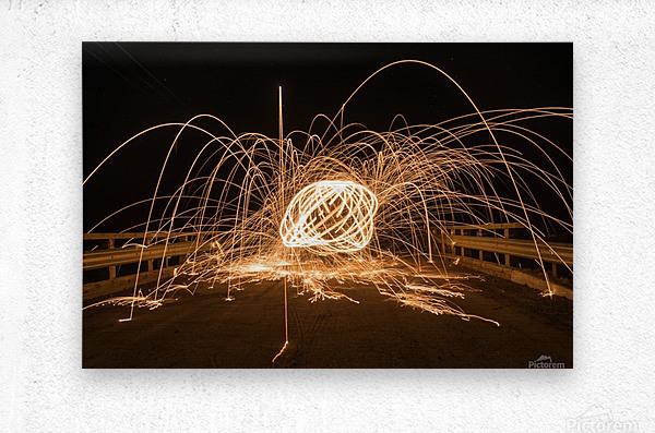 Spiral orb  Metal print