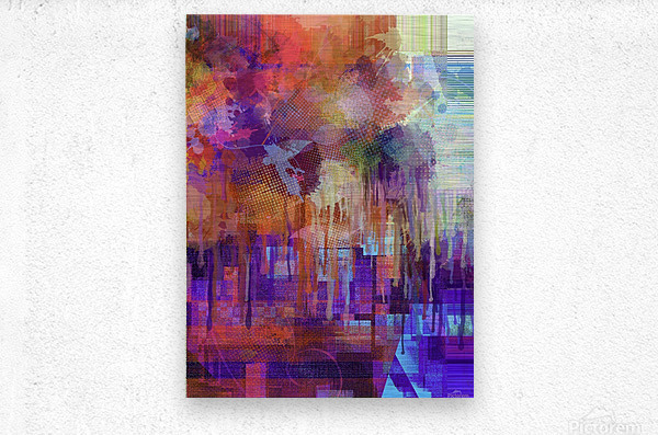 Abstract - Inadvertent Prevaricator  Metal print
