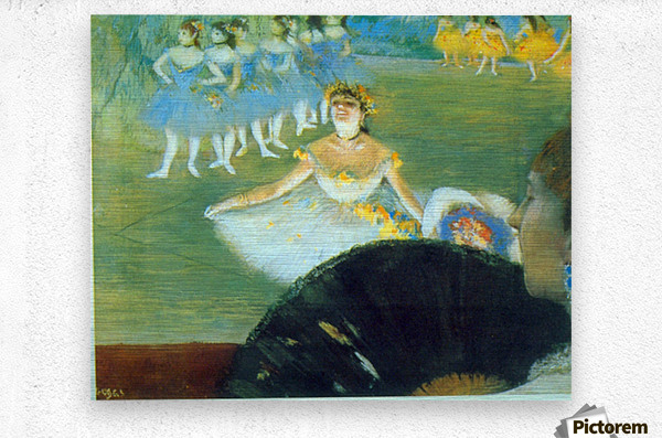 Dance with Bouquet by Degas  Metal print