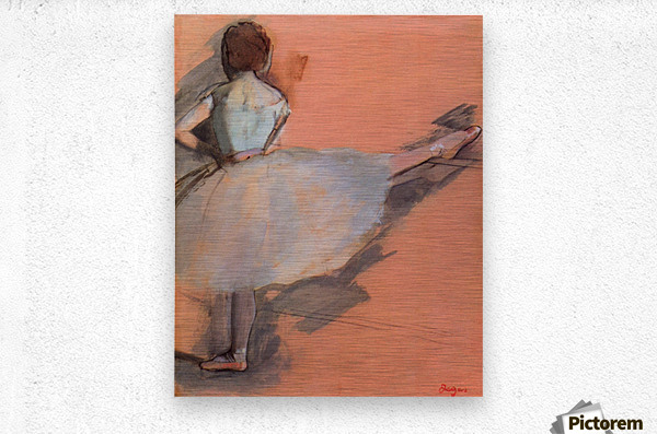 Dancer at the bar 1 by Degas  Metal print