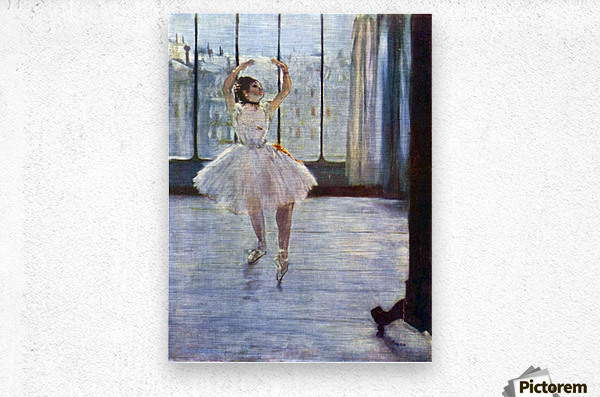 Dancer being photographed by Degas  Metal print
