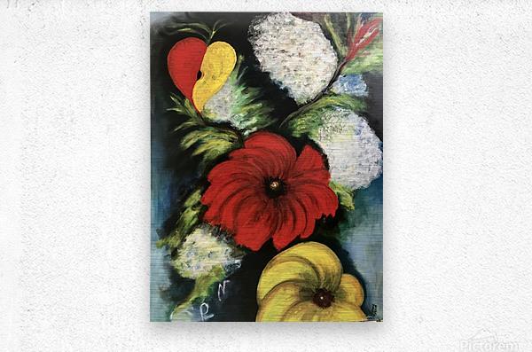 Des Fleurs pour Nathalie  Metal print