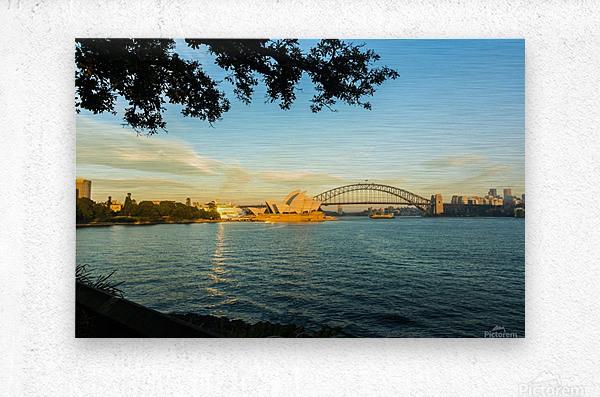 Sydney Opera House in the pre dawn light  Metal print