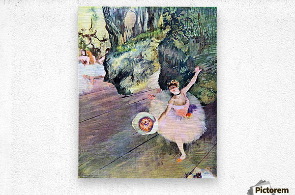 Dancer with a bouquet of flowers (The Star of the ballet) by Degas  Metal print