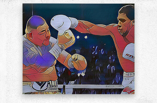 Big Fight  Metal print