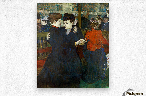 Dancing a Valse by Toulouse-Lautrec  Metal print