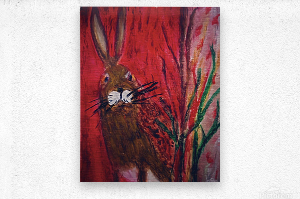 Red Rabbit  Metal print