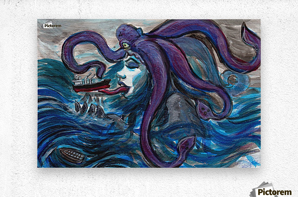 Sea Monster, 1  Metal print