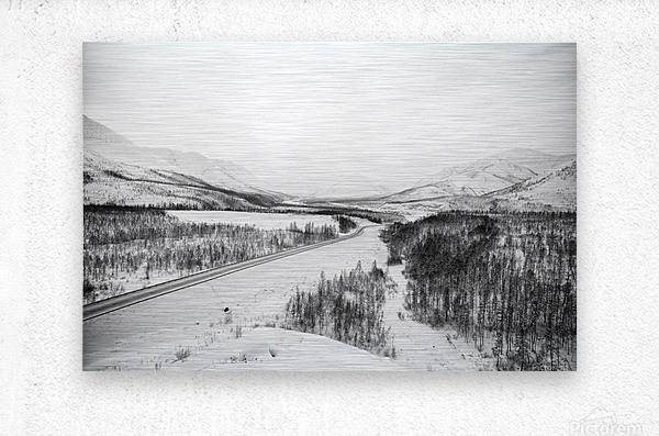 Kolyma Highway in Yakutia  Metal print