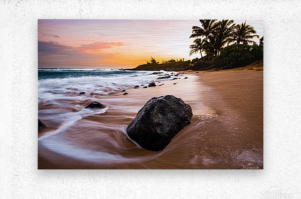 Smooth Shore  Metal print