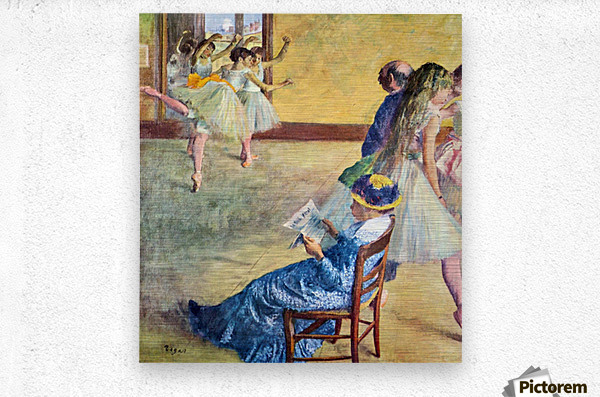 During the dance lessons - Madame Cardinal by Degas  Metal print