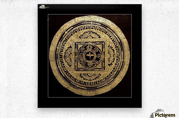 Nepali Goldwork: Buddha Eyes  Metal print