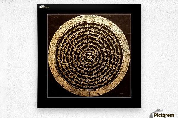 Nepali Goldwork: Tranquility  Metal print