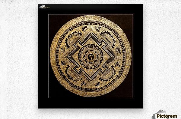 Nepali Goldwork: Peace  Metal print