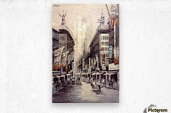 Old Hong Kong Street View  Metal print