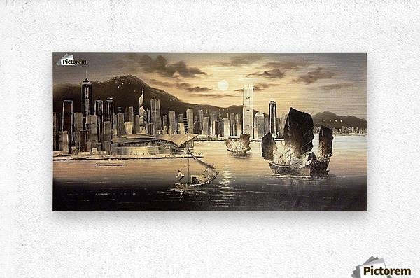 Hong Kong Harbor Skyline  Metal print