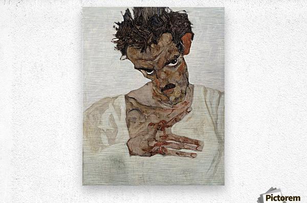 Egon Schiele - Self-Portrait  Metal print