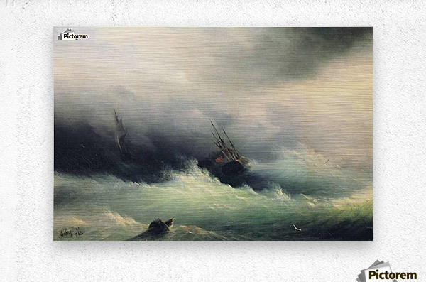 Ships in a Storm  Metal print