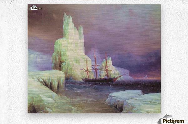Icebergs in Antarctica  Metal print