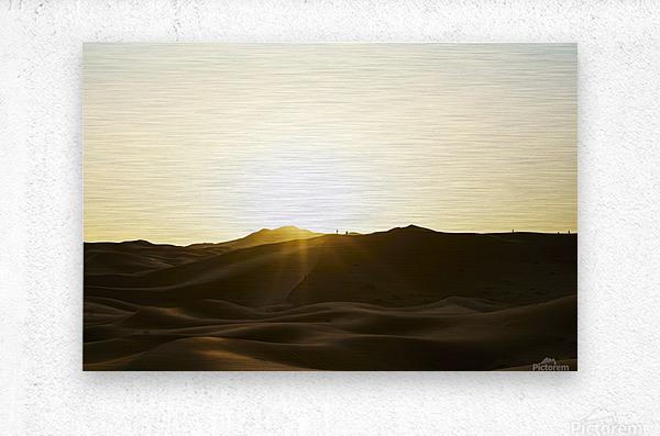 Erg Chebbi at Sunset  Metal print
