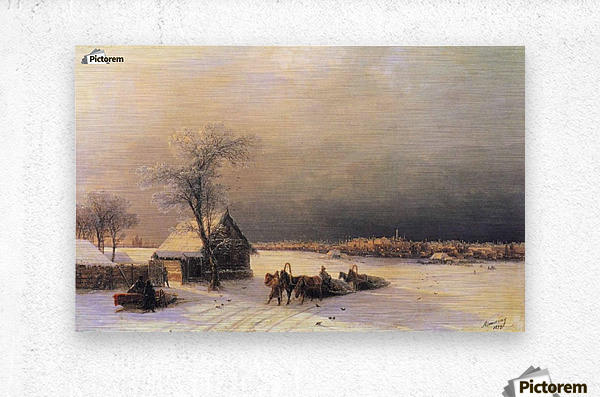 Moscow in Winter from the Sparrow Hills  Metal print
