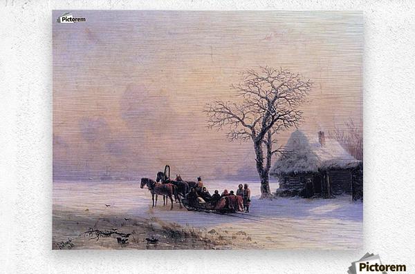 Winter Scene in Little Russia  Metal print