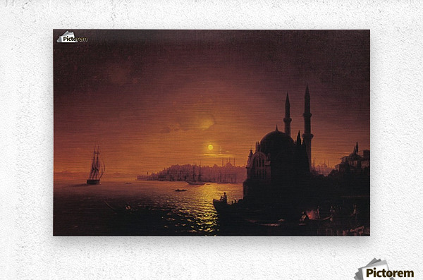 View of Constantinople by Moonlight  Metal print