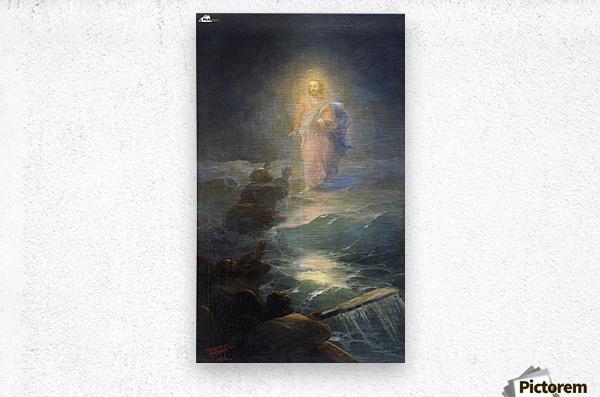 Jesus walks on water  Metal print