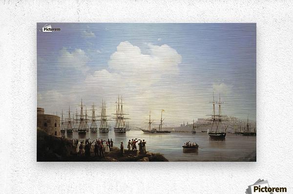 Russian squadron on the raid of Sevastopol  Metal print